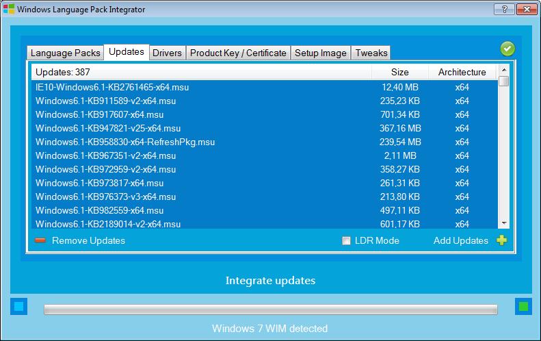 Интеграция обновлений в .ISO образы Windows и не только с помощью WDI
