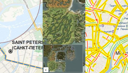 Использование API Яндекс.Карт для работы с произвольными подложками
