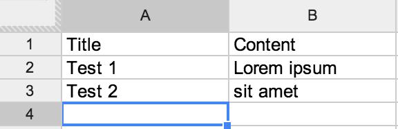 Использование Google Spreadsheet как JSON бэкенд