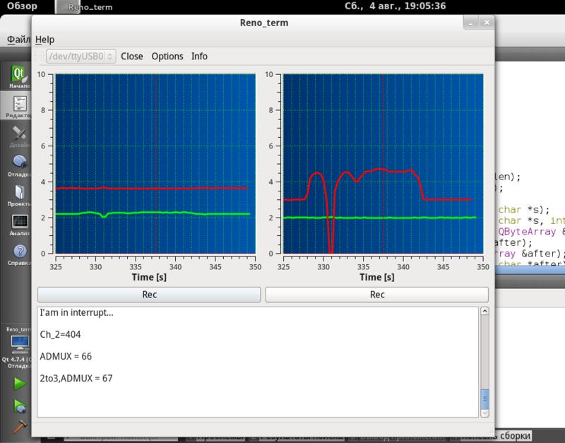 Использование библиотек QSerialDevice и QWT для организации коммуникации с контроллером и отображения данных