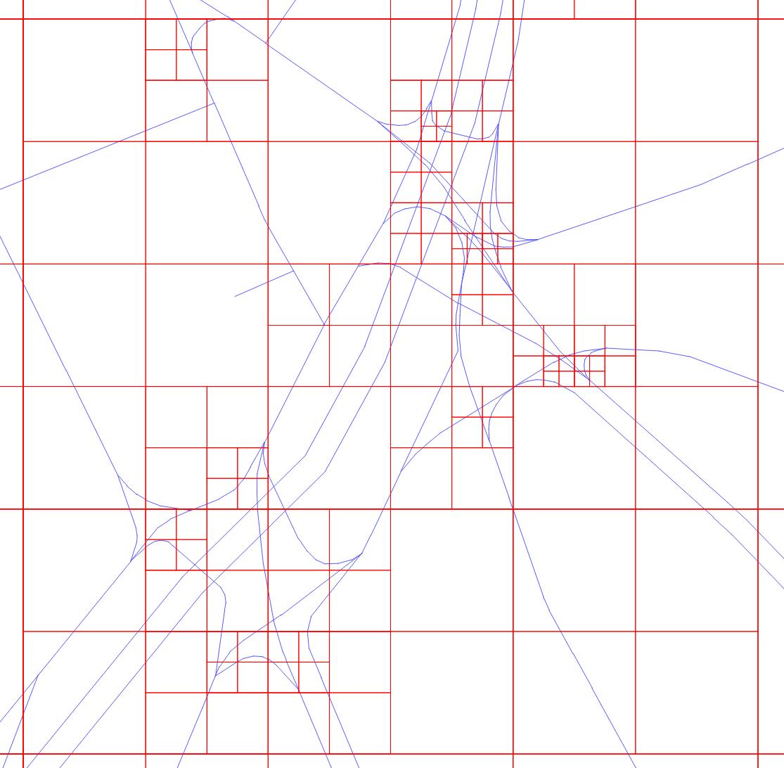 Использование квадродеревьев при расчёте пробок 2ГИС