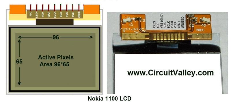 Используем экран Nokia 1100 в своих целях