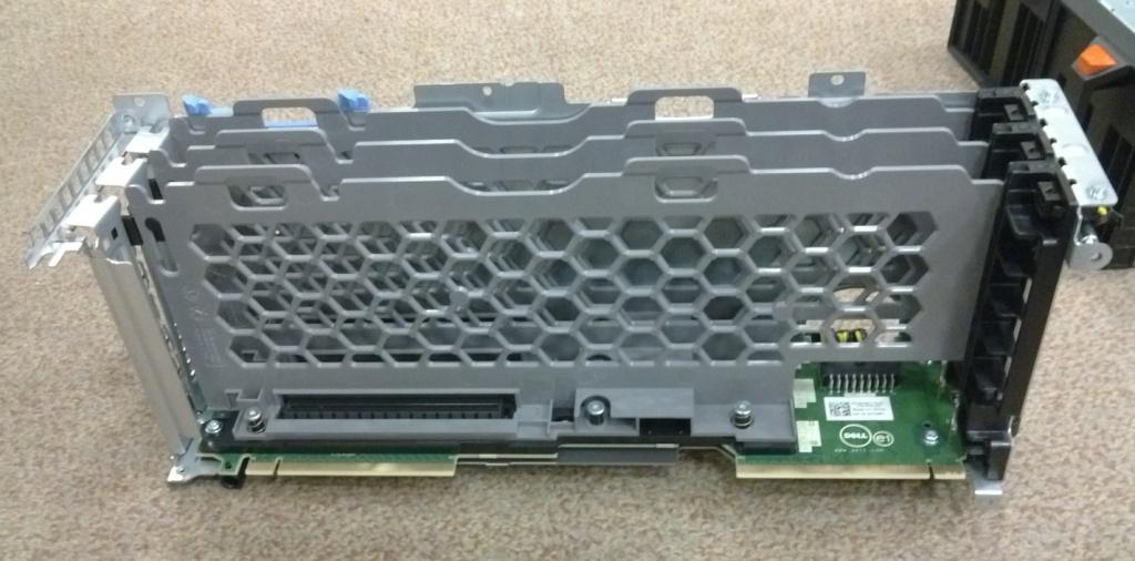 три слота расширений PCIe карт