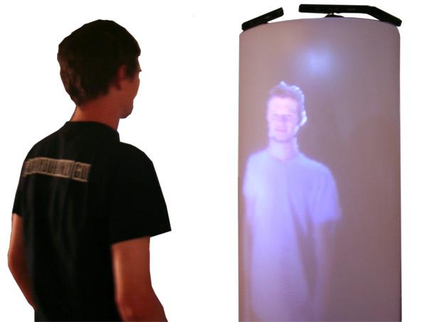 Кабина для 3D телеконференций в полный рост (в стиле Star Trek)