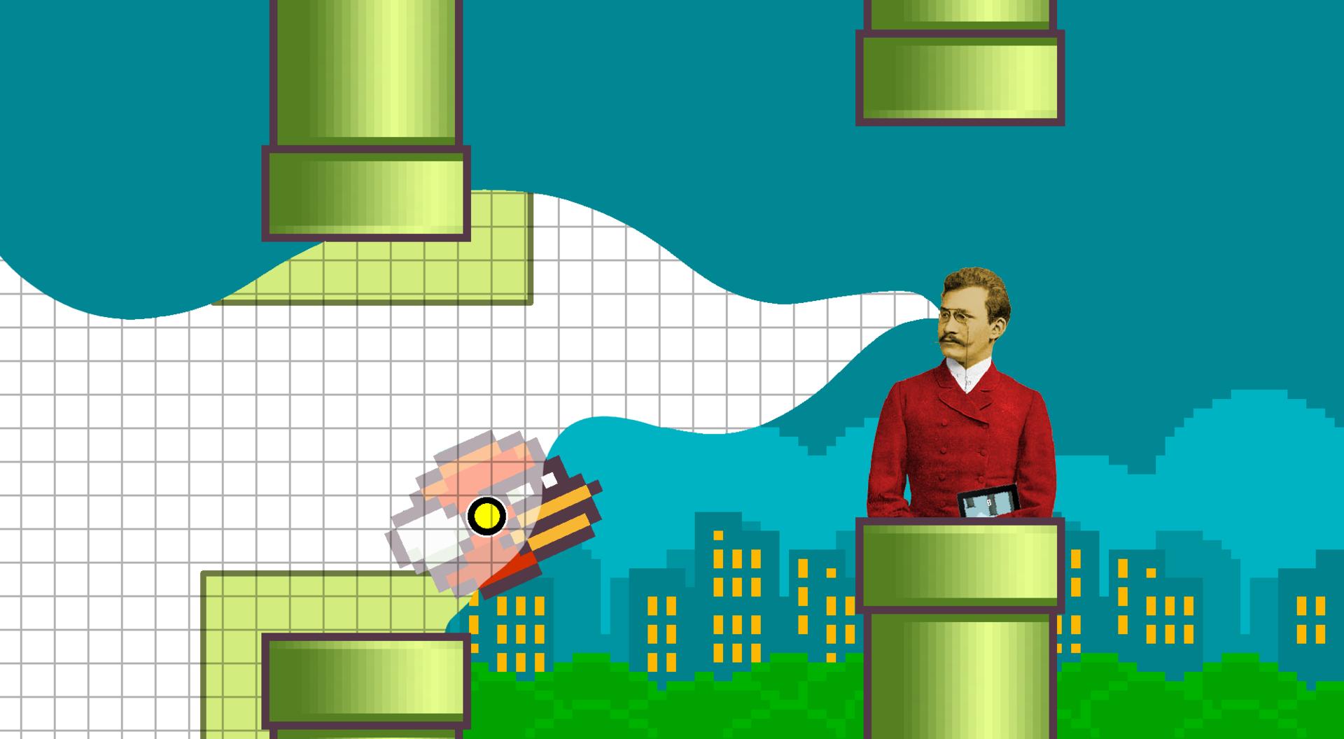 Как Минковский во Flappy Bird играл