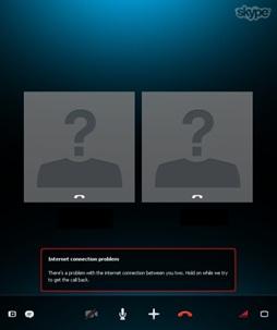"""""""Обрыв"""" в ходе Skype разговора"""