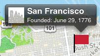 Как сделать нестандартное всплывающее окошко при клике на метку в картах iOS