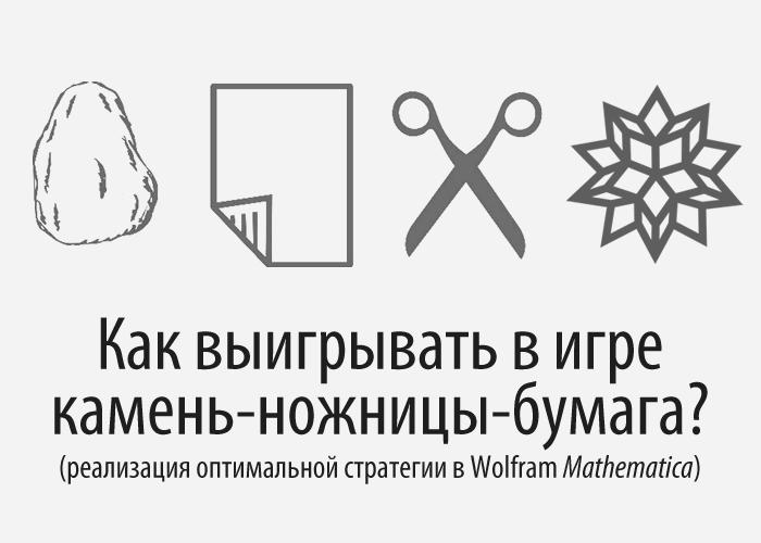 Как выигрывать в игре камень ножницы бумага? (реализация оптимальной стратегии в Wolfram Mathematica)