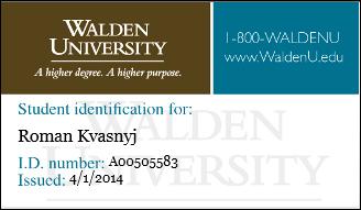 Как я поступил на дистанционное образование в магистратуру Walden (США)