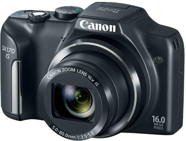 Продажи Canon PowerShot SX170 IS должны начаться в сентябре
