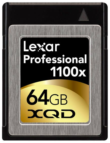 В серию Lexar Professional 1100x XQD вошли носители объемом 32 и 64 ГБ