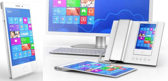 Коммуникатор i mate с процессором Intel Atom и ОС Windows 8 Pro