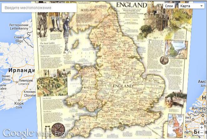 Компания National Geographic выложила в сеть более 500 исторических карт на Google Maps Engine