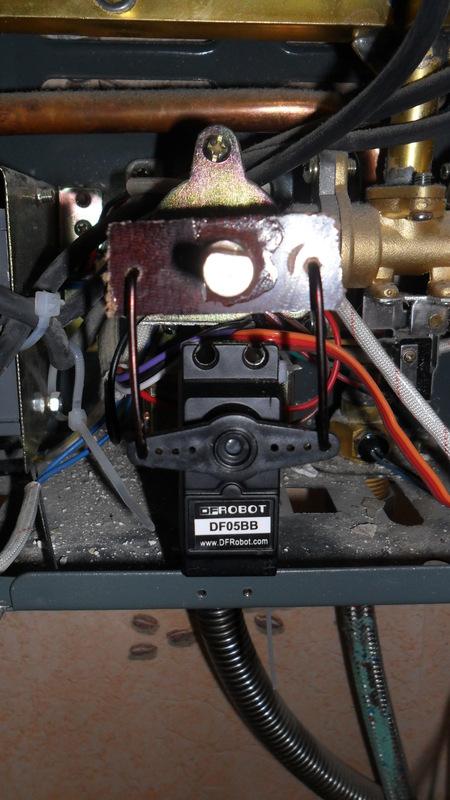 Контроль темературы воды в газ. колонке