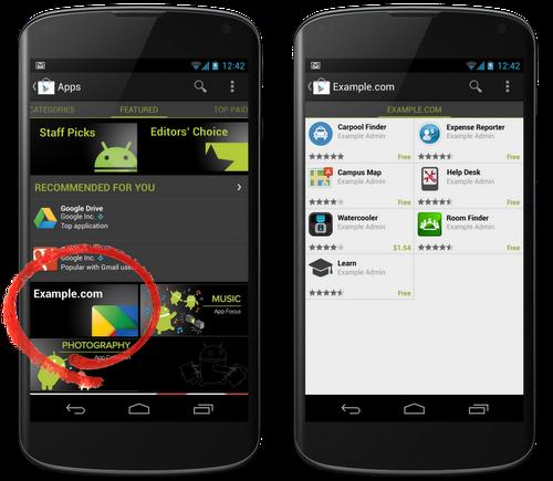 Корпоративные приложения в Google Play