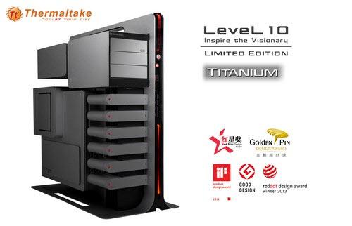 Корпус Thermaltake Level 10 Titanium Limited Edition Gaming Station несколько отличается от базовой модели