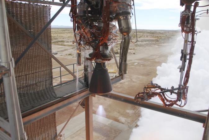 Космическая компания Blue Origin успешно провела испытания двигателей для своей ракеты носителя