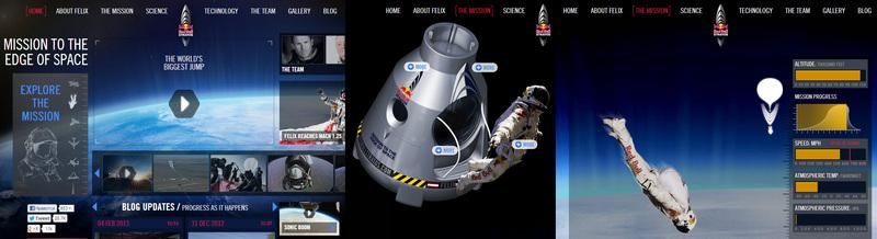 Космические сюжеты в веб дизайне