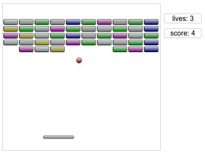 Крошечный арканоид на JavaScript (30 строк кода)
