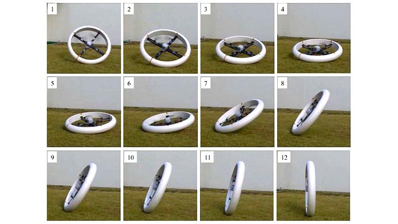 Квадрокоптер колесо