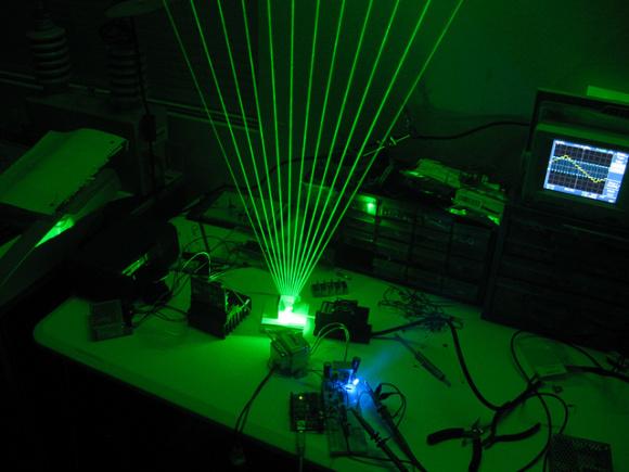 Лазерная арфа для ценителей современной музыки