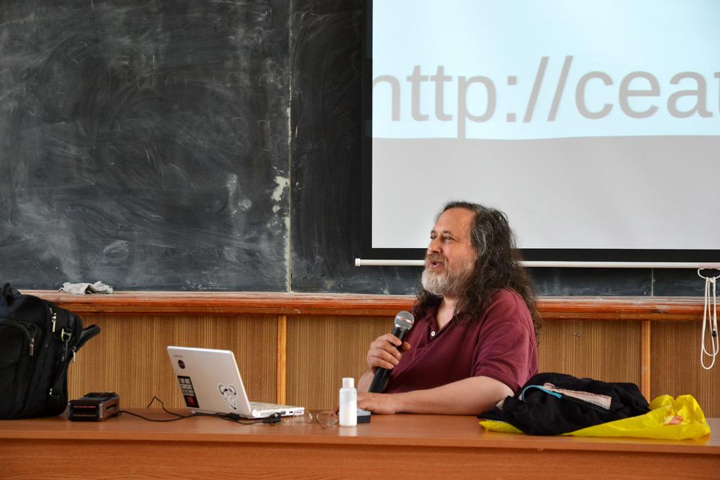 Лекция Ричарда Столлмана в Кишиневе