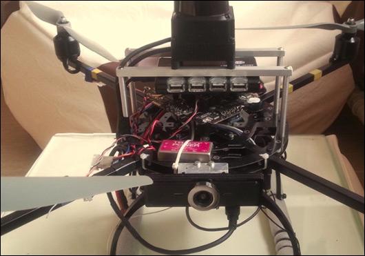 Летающий робот к конкурсу и куча грабель с ним