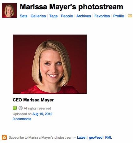 Марисса Майер удвоила команду разработчиков Flickr и завела здесь аккаунт