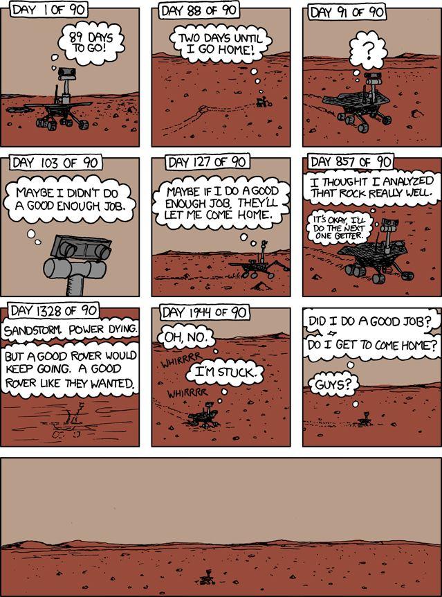 Марсоход Spirit опустился на Марс 9 лет назад