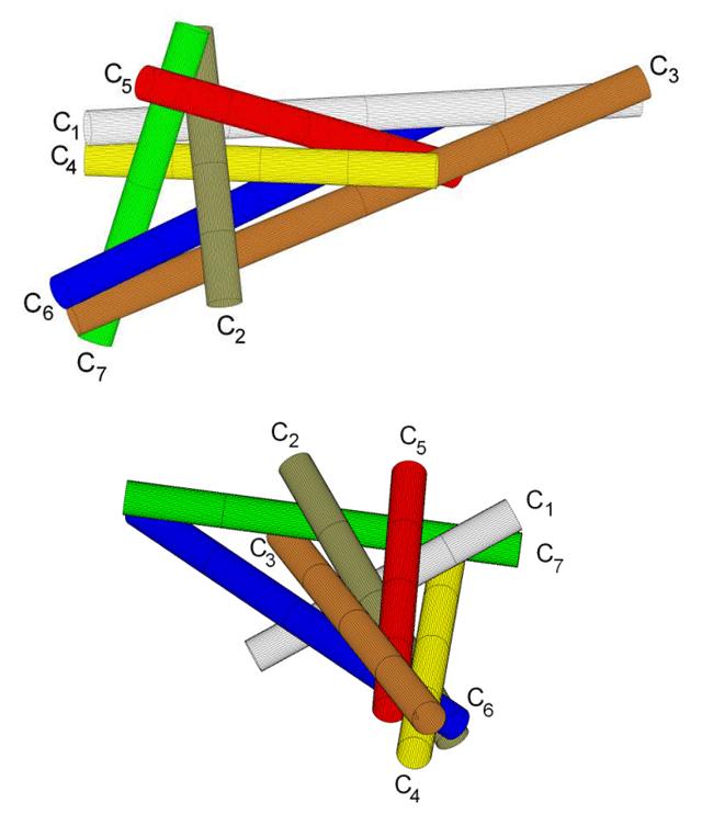 Математики нашли способ одновременного соприкосновения 7 цилиндров
