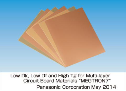 Материал Panasonic Megtron7 также характеризуется высоким тепловым сопротивлением и прочностью