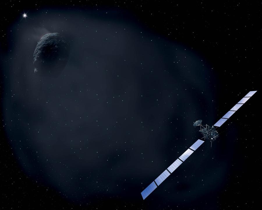 Межпланетная станция Rosetta выполняет ряд маневров для сброса скорости