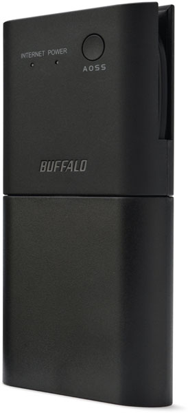 Миниатюрный беспроводной маршрутизатор Buffalo WMR-300 соответствует спецификациям IEEE 802.11n/g/b