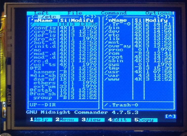 Миникомпьютер из роутера с OpenWRT: пишем драйвер фреймбуфера