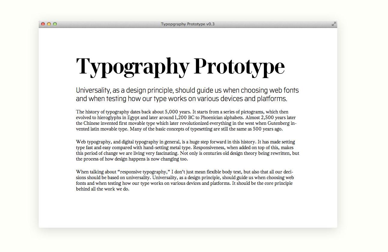 Мобильная типографика