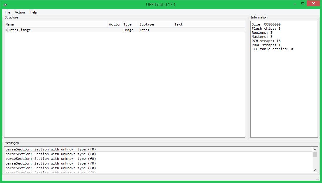 Модификация UEFI BIOS, часть первая: знакомство с UEFITool