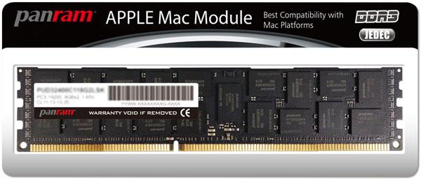 Цены модулей памяти Panram Apple Mac Module производитель не называет