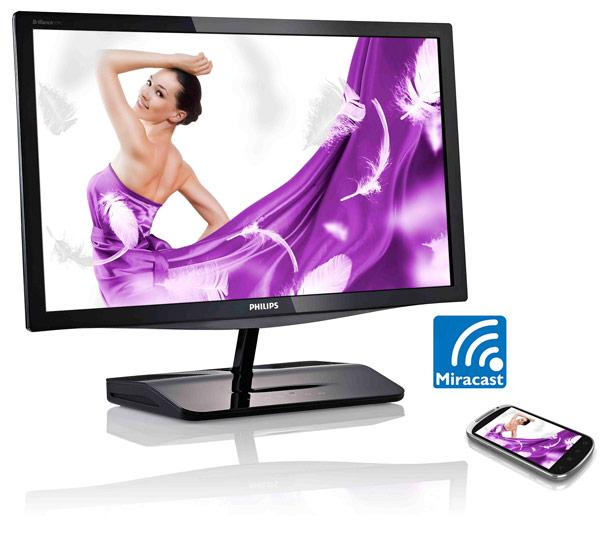 Монитор Philips Miracast 239C4QHWAB поступит в продажу в России во втором квартале 2014 года