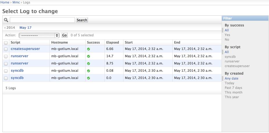Мониторинг выполнения management команд в Django
