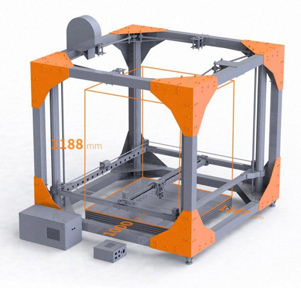 Принтер BigRep ONE стоит $39000