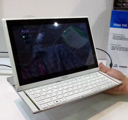 Трансформируемый ультрабук MSI Slider S20 работает под управлением Windows 8