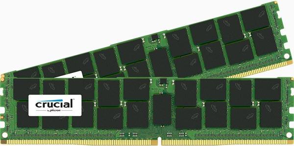 Напряжение питания серверных модулей памяти Crucial DDR4 равно 1,2 В