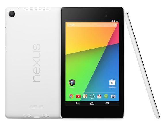 Белый планшет Nexus 7 с 32 ГБ флэш-памяти стоит $270