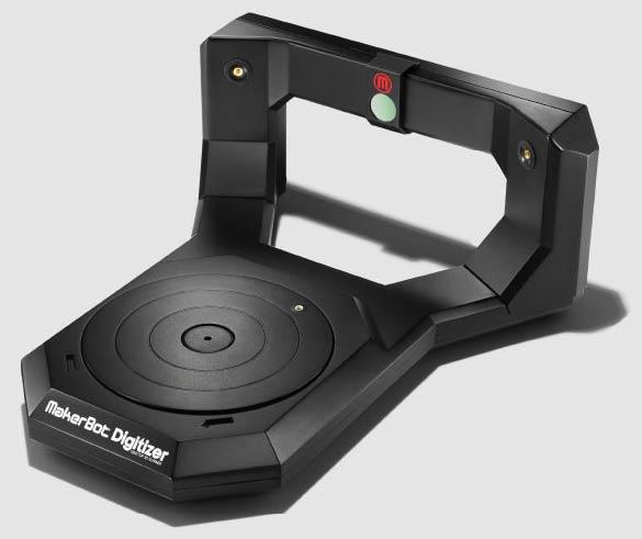 Настольный 3D-сканер MakerBot Digitizer позволяет быстро создавать трехмерные модели небольших объектов