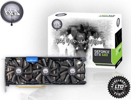 Начат прием заказов на разогнанную 3D-карту KFA2 GeForce GTX 680 Hall of Fame с тремя выходами mini-HDMI