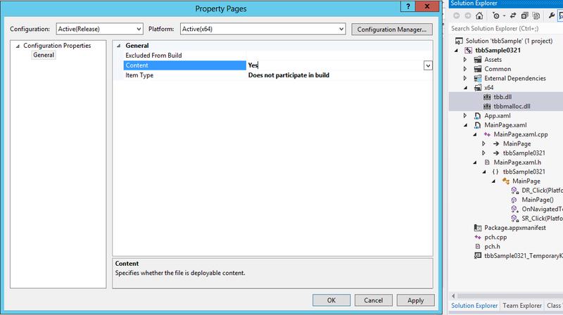 Написание многопоточных приложений для магазина Windows с помощью Intel Threading Building Blocks — теперь с DLL