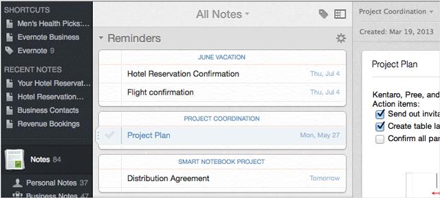 Напоминания в Evernote: новая функция уже доступна на iPhone, iPad, Mac и в веб клиенте