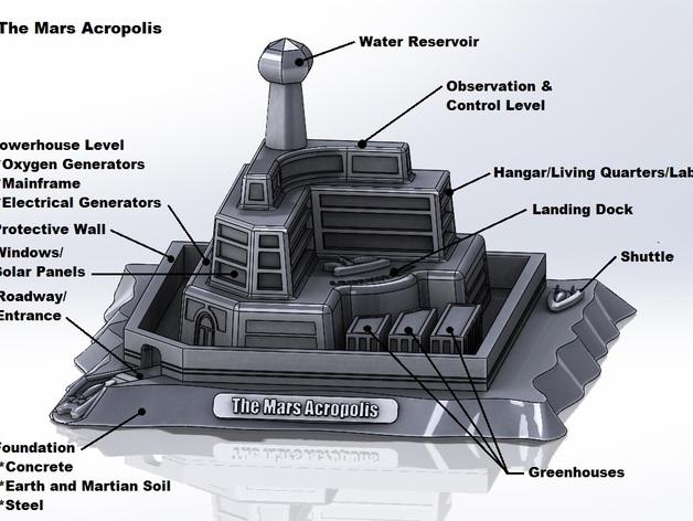 НАСА объявило конкурс проектов марсианской базы