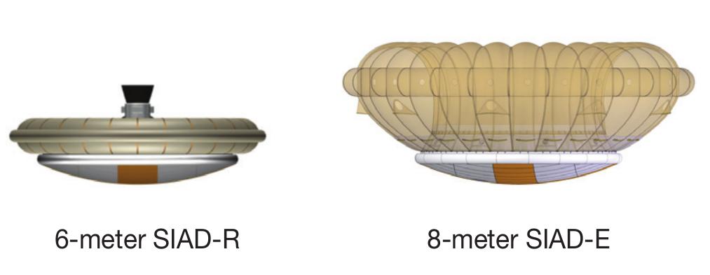 НАСА тестирует надувной аэродинамический тормоз для посадки человека на Марс