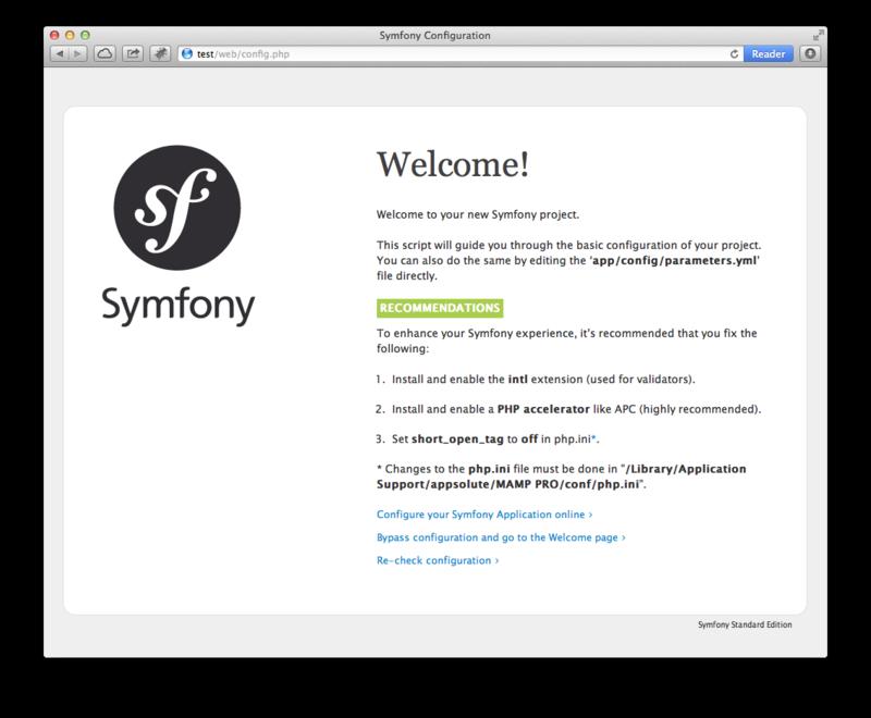 Настраиваем конфигурацию Symfony2 для MAMP Pro в MacOS